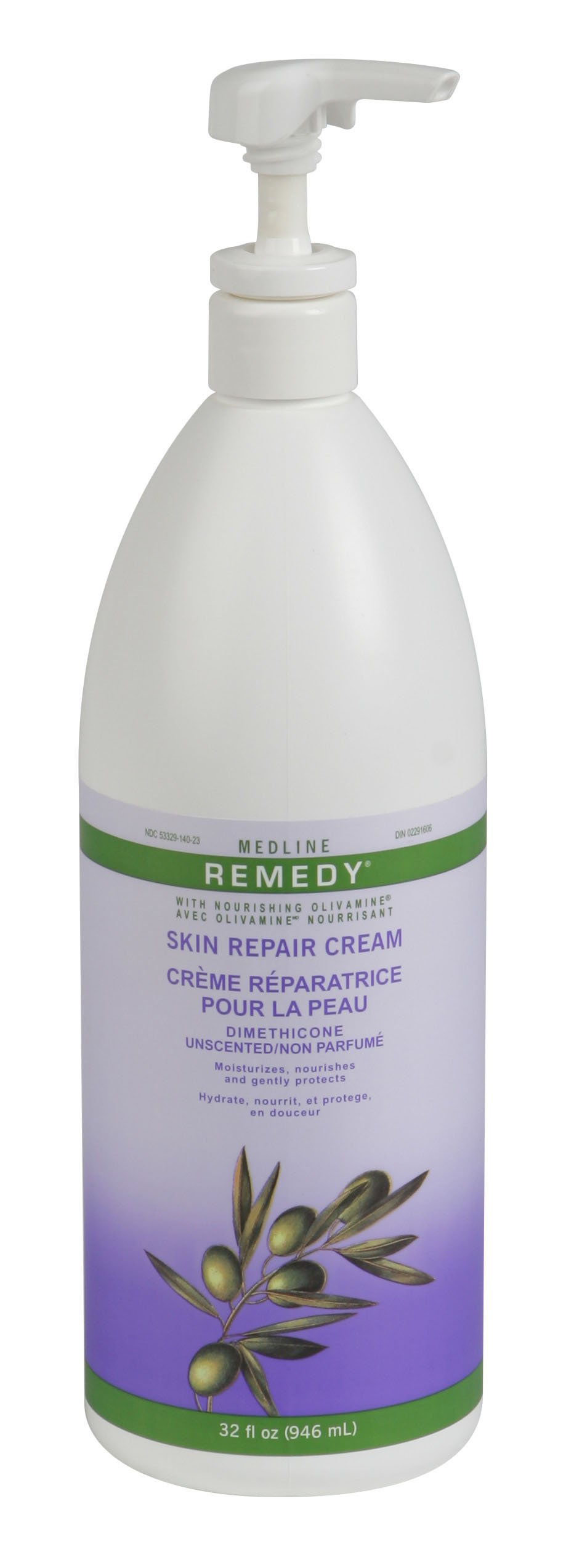 Medline Remedy Unscented Olivamine Skin Repair Cream, 32 Fluid Ounce by Medline