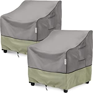 KylinLucky Patio Chair Covers Outdoor Furniture Covers Waterproof Fits up to 33W x 34D x 31H inches 2pack