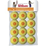 Wilson Kids' Starter Tennis Balls (Pack of 12) - Yellow/Orange