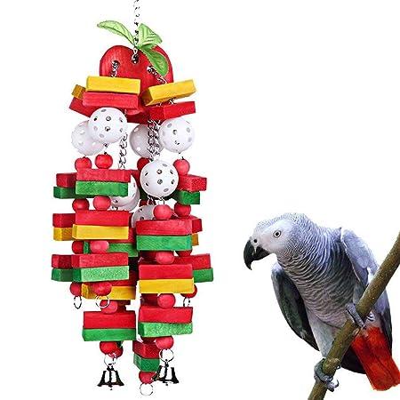 WGE Juguete para Masticar pájaros Loro Mediano Grande Jaula para ...