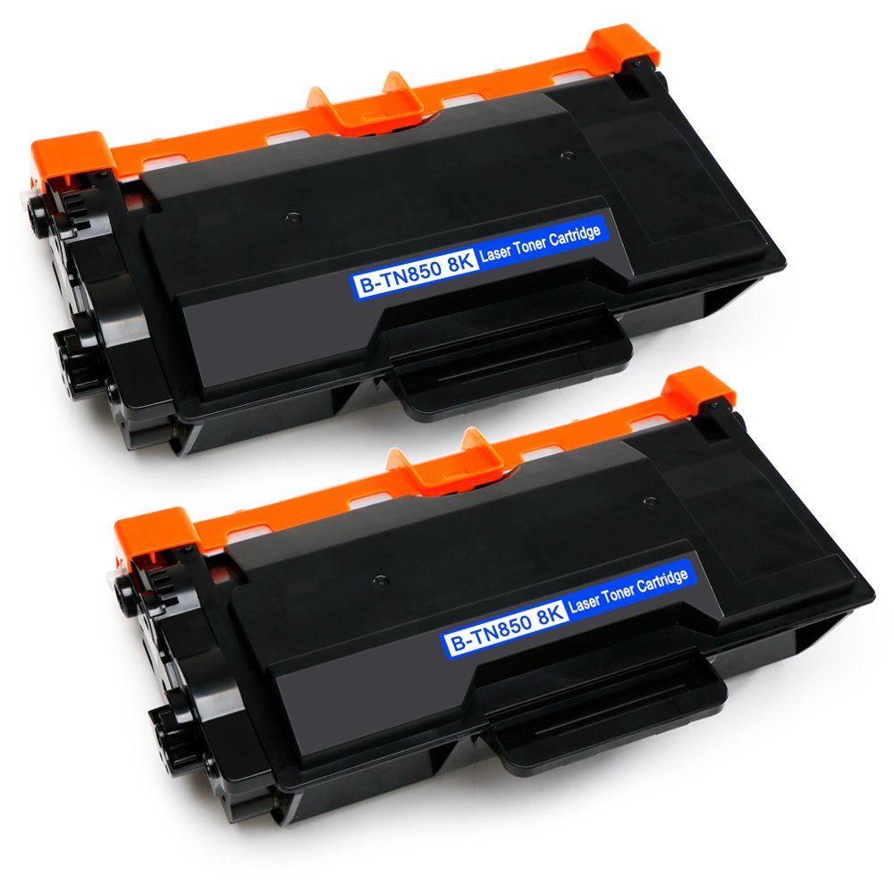 EBBO TN850 Compatible Toner Cartridges replacement for Brother TN850 TN-850 TN820, High Yield 2 Black, Used in Brother HL-L6200DW HL-L5200DW HL-L5200DWT HL-L5100DN MFC-L5900DW MFC-L5800DW MFC-L5700DW