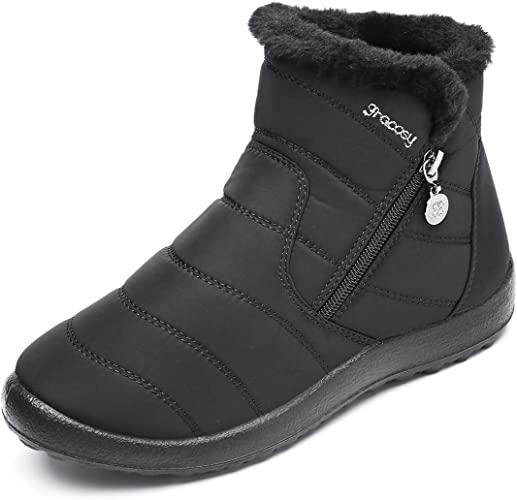 Amazon.com: Gracosy - Botas de nieve cálidas para mujer ...