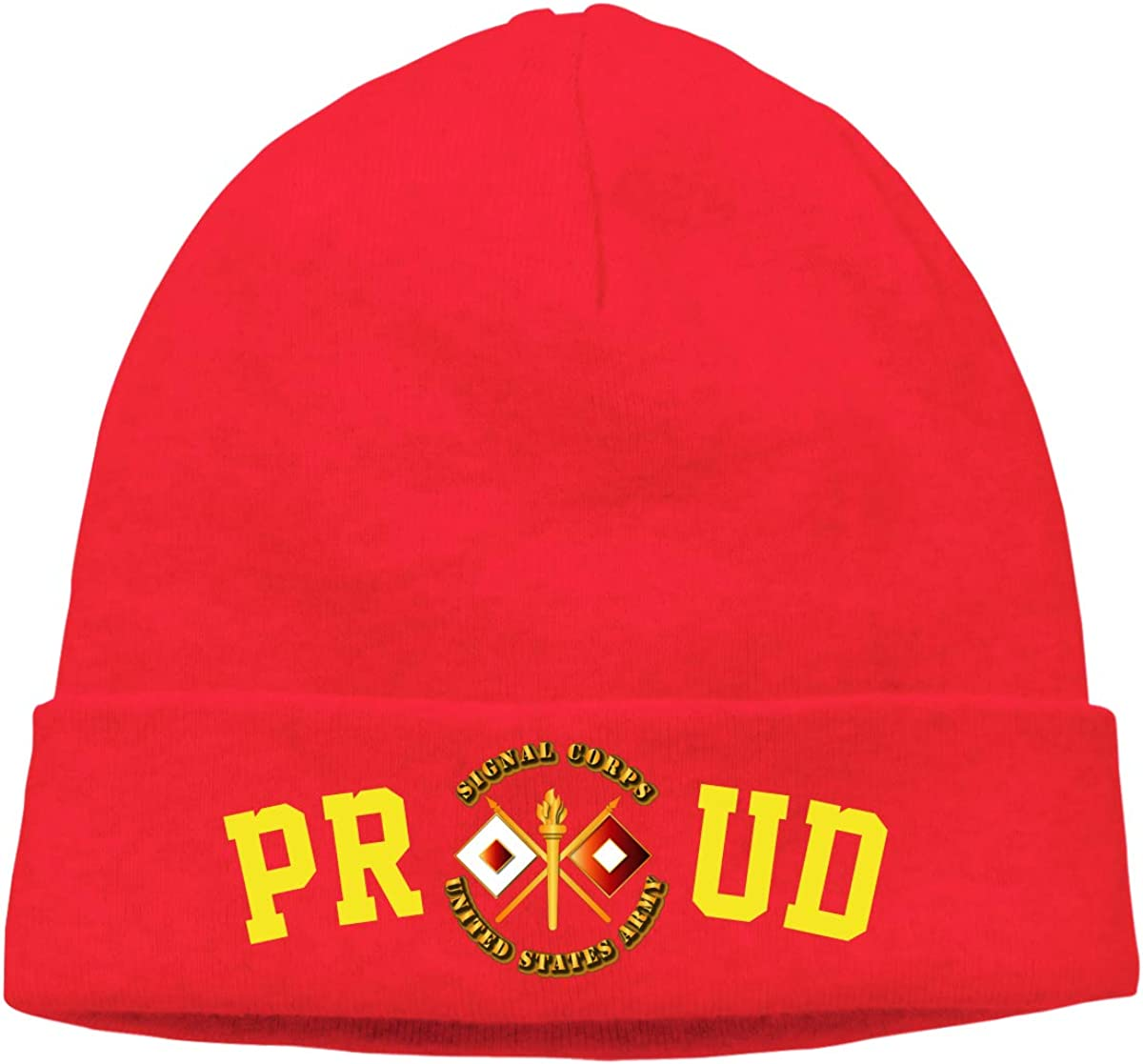 Proud US Army Signal Corps Mens Beanie Cap Skull Cap Winter Warm Knitting Hats.