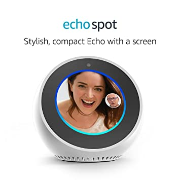 Certified Refurbished Amazon Echo Spot White Amazon Co Uk