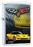 Zippo Lighter Chevy Corvette 2006 Brushed Chrome