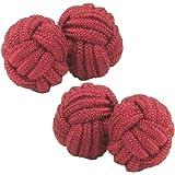 Cuffs & Co Red Shade Silk Knot Cufflinks