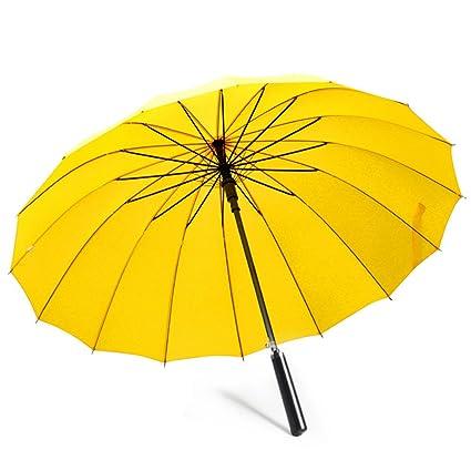 Shenhai Sombrilla Unisex Cortavientos 16 Uñas Paraguas ...