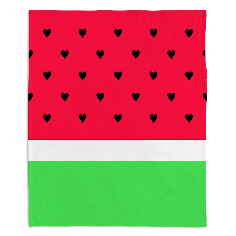ブランケットウルトラソフトFuzzy 4サイズダイアノウチェデザインズホーム装飾寝室ソファまたはスローブランケットby有機彩度 – I Love Watermelon Large 80