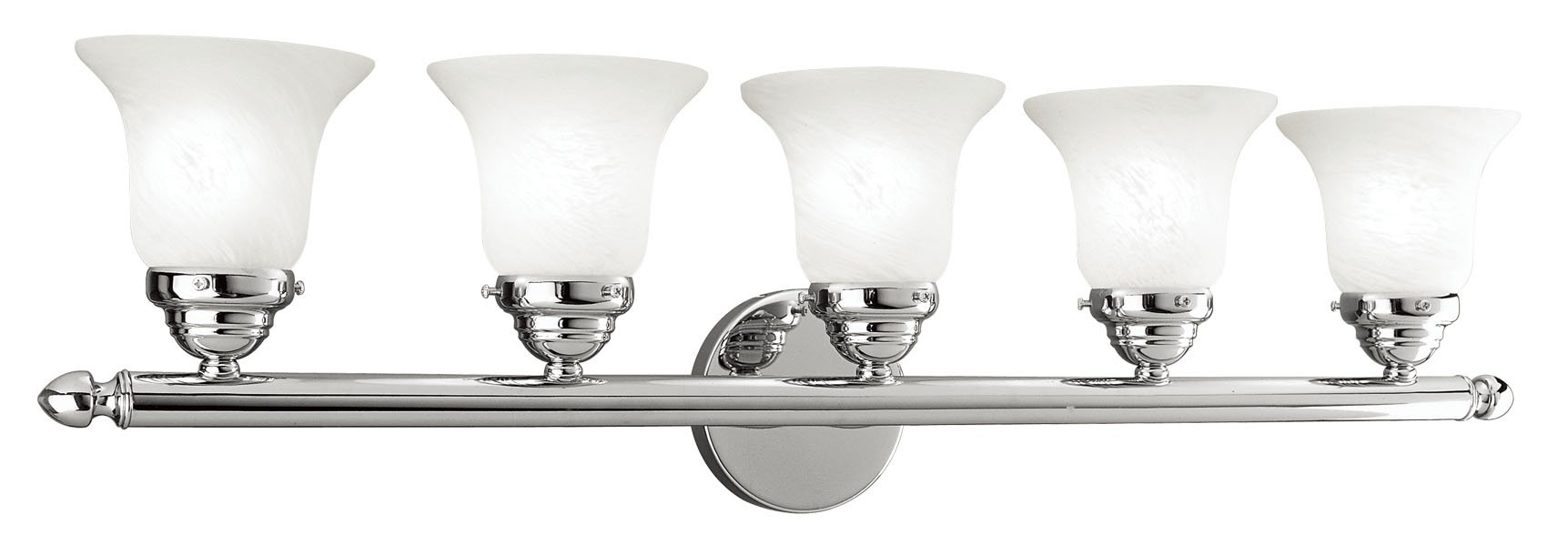Livex Lighting 1065-05 Neptune 5-Light Bath Light, Chrome