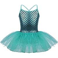 inhzoy Vestido Tutu de Danza Lentejuelas para Niña Maillot de Ballet Gimnasia Rítmica con Falda Leotardo de Patinaje…