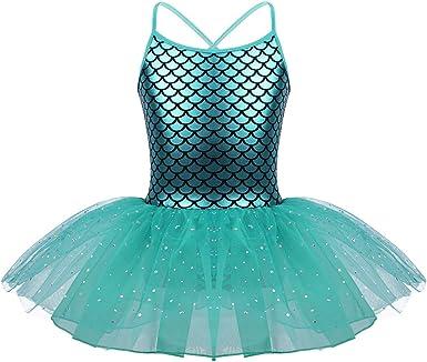 IEFIEL Vestido Danza Ballet Maillot Niña Tutu Vestido de Princesa ...