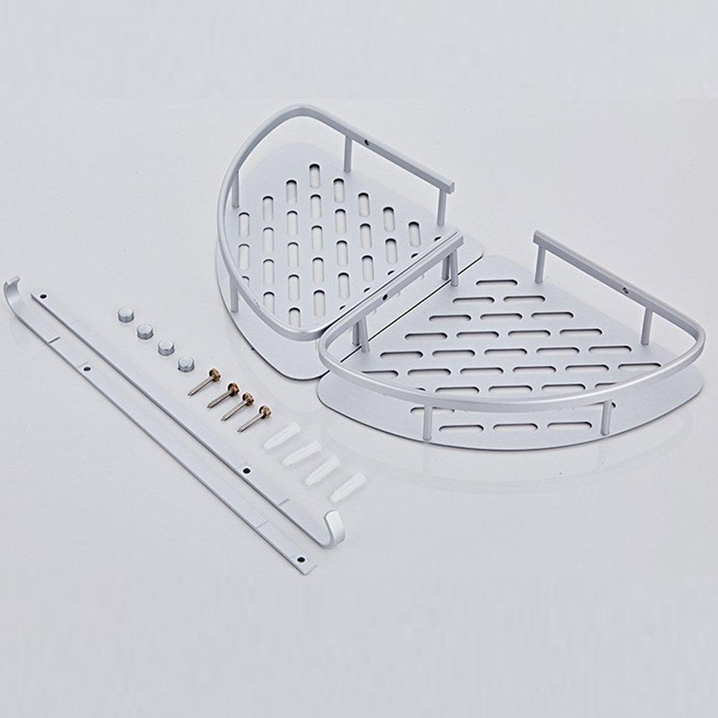 Rain Queen Ablagegestell // Eck-Wandhalterung f/ürs Bad 2/Haken Full Edelstahl // Aluminium