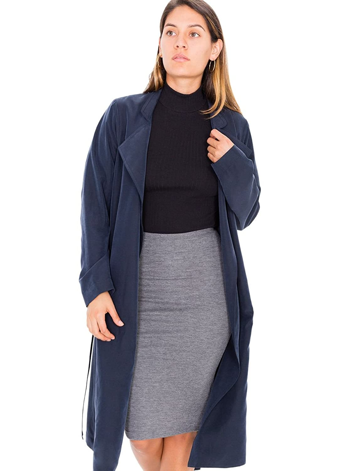 American Apparel Lightweight Dylan Trench - Naval / XS/S