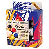 Speedball Water-Soluble Block Printing Ink Starter Set – 6 Bold Colors With Satiny Finish - 1.25 FL OZ Tubes
