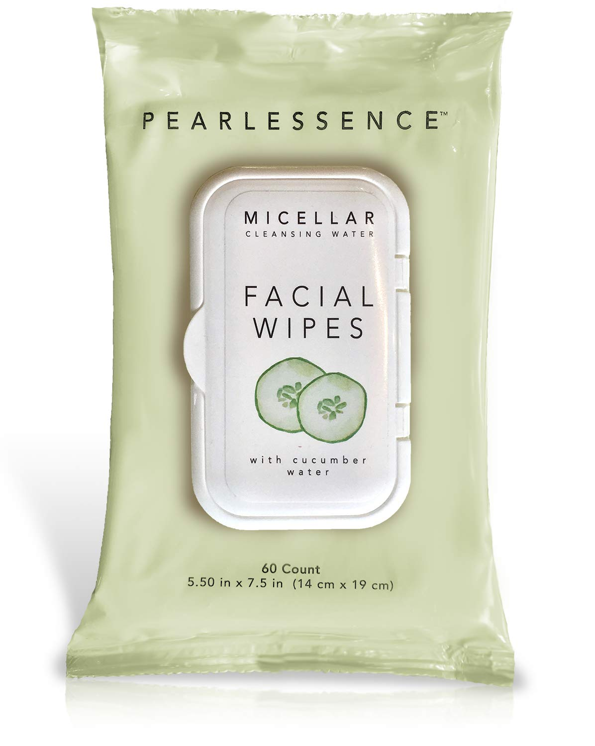 Micellar Cleansing Facial Makeup Remover Wipes w/Cucumber Water, 60 Count (1 Pack)