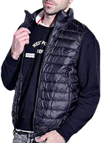 KLJR Men Winter Thickened Down Coats Casual Stand Collar Slim Warm Outwear