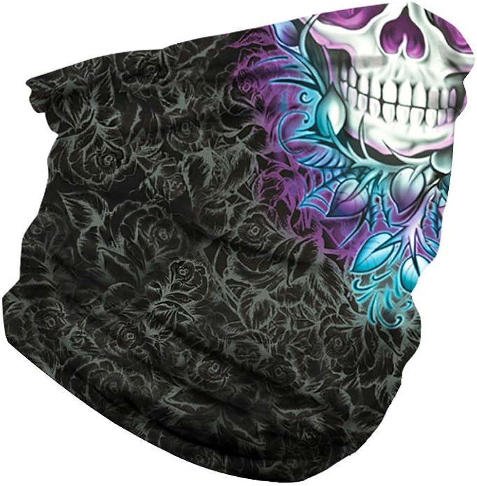 Neck Gaiter Tube Mask Headwear Seamless Rave Face Mask Bandana Dust Wind UV Sun
