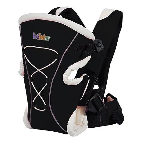 Bebamour Babytrage 3 in 1 Ergonomische Babyr/ückentragen CE-Zertifizierung Baumwolle Babytrage Schwarz