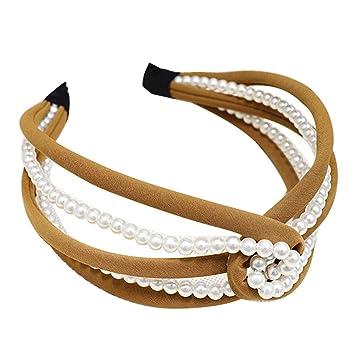 Aro de pelo para mujer con incrustaciones de perlas ...