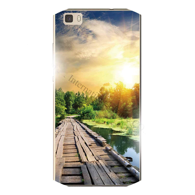 Amazon.com: for Huawei P8 Lite Phone Case Luxury Brooks Sea ...
