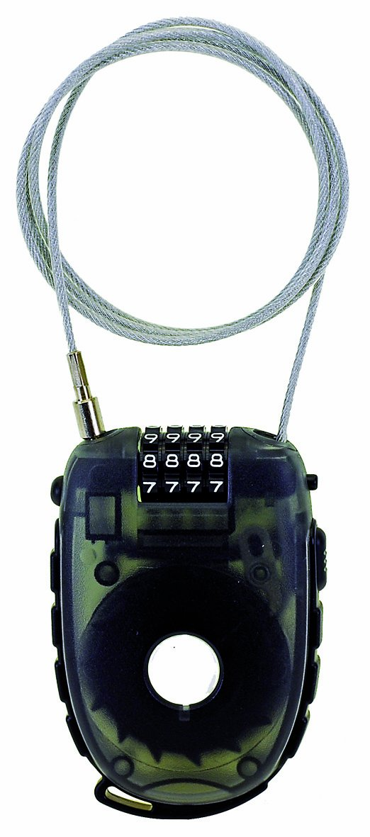 M-Wave Roll-Up Combo Cable Lock (Black) Cycle Force Group 230010