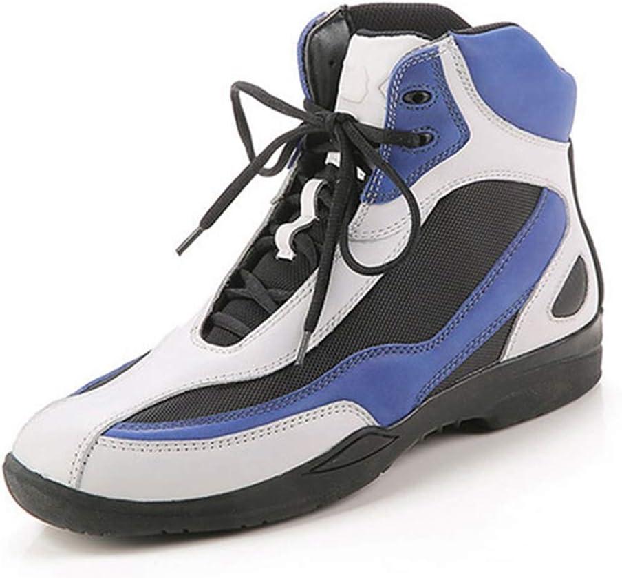 UZZHANG Chaussures de Course Respirantes Chaussures d/équitation Bottes de Moto Automne et Hiver Chaussures d/équitation Bleu 40