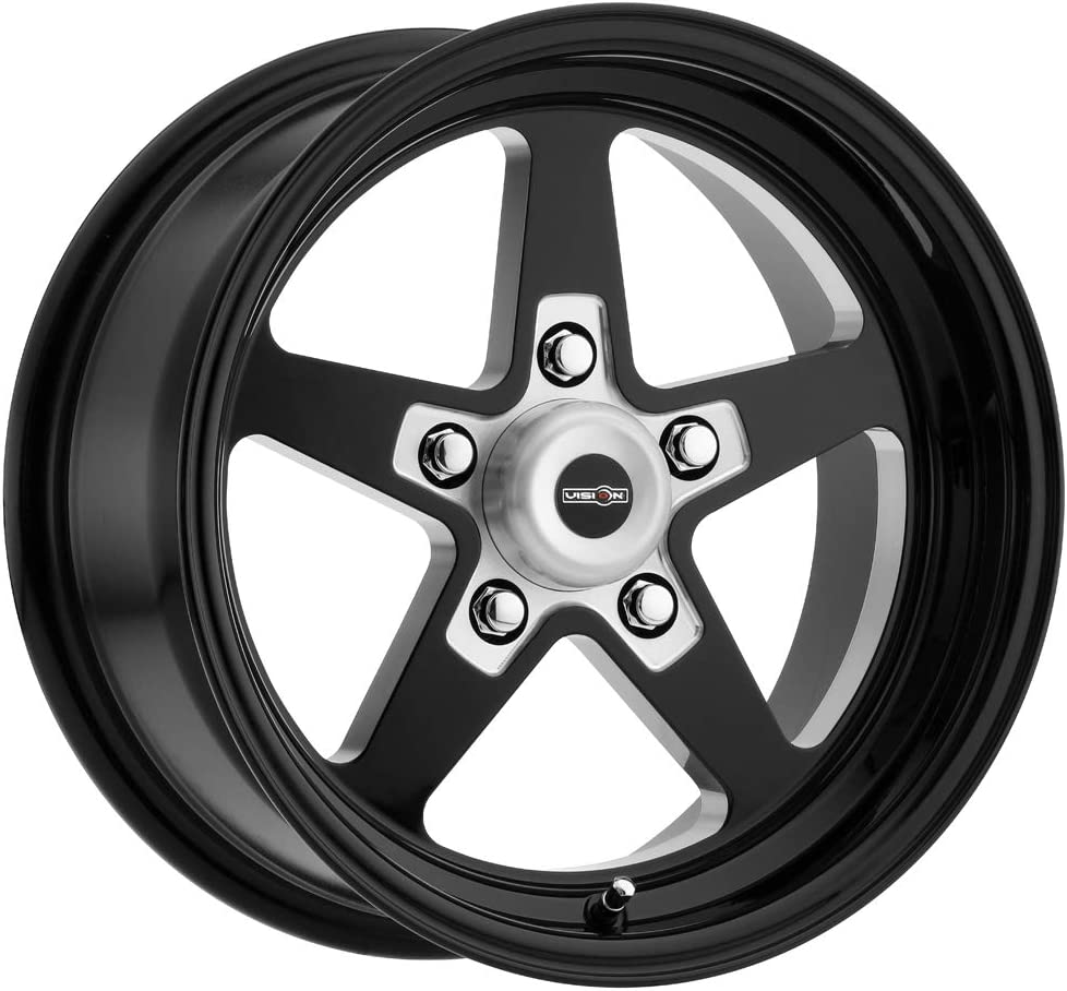 15 x 4. inches //5 x 120 mm, -19 mm Offset Vision 571 Sport Star II Gloss Black//Milled Wheel Finish