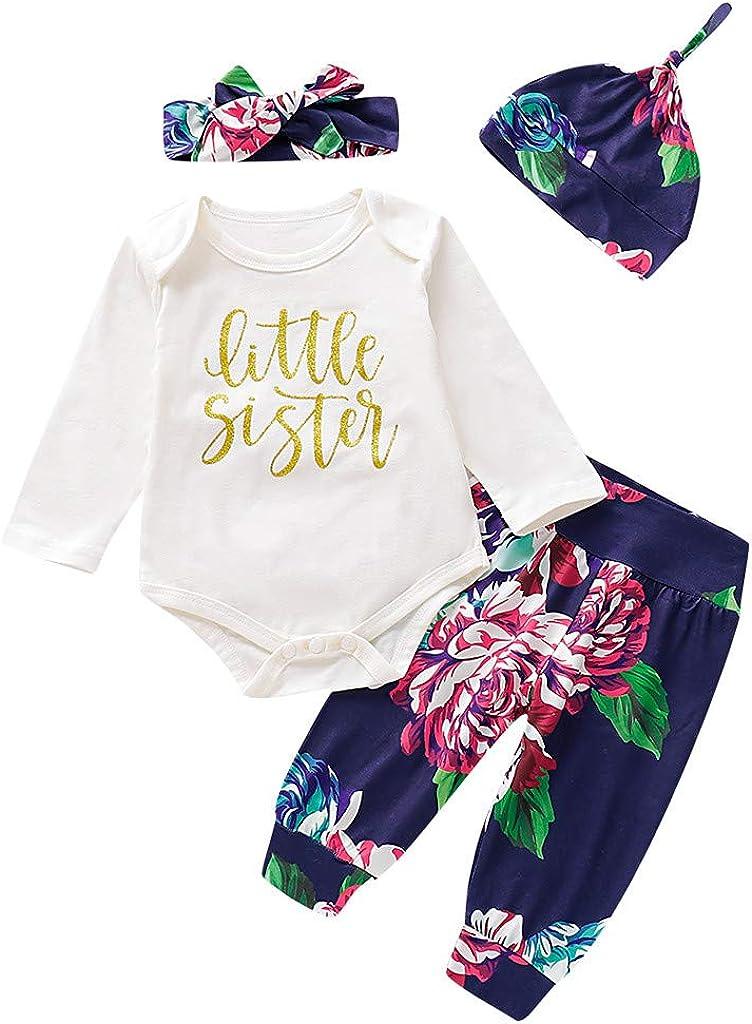 Julhold - Pijama para niños y niñas, Elegante, Estampado Casual, con Sombrero y Cinta para el Pelo