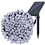 Outdoor Solar String Lights - Dolucky 220 LED 77ft 8 Mode Solar Powered Fairy Lights with USB Charging, Great for Garden, Landscape, Xmas Tree, Patio