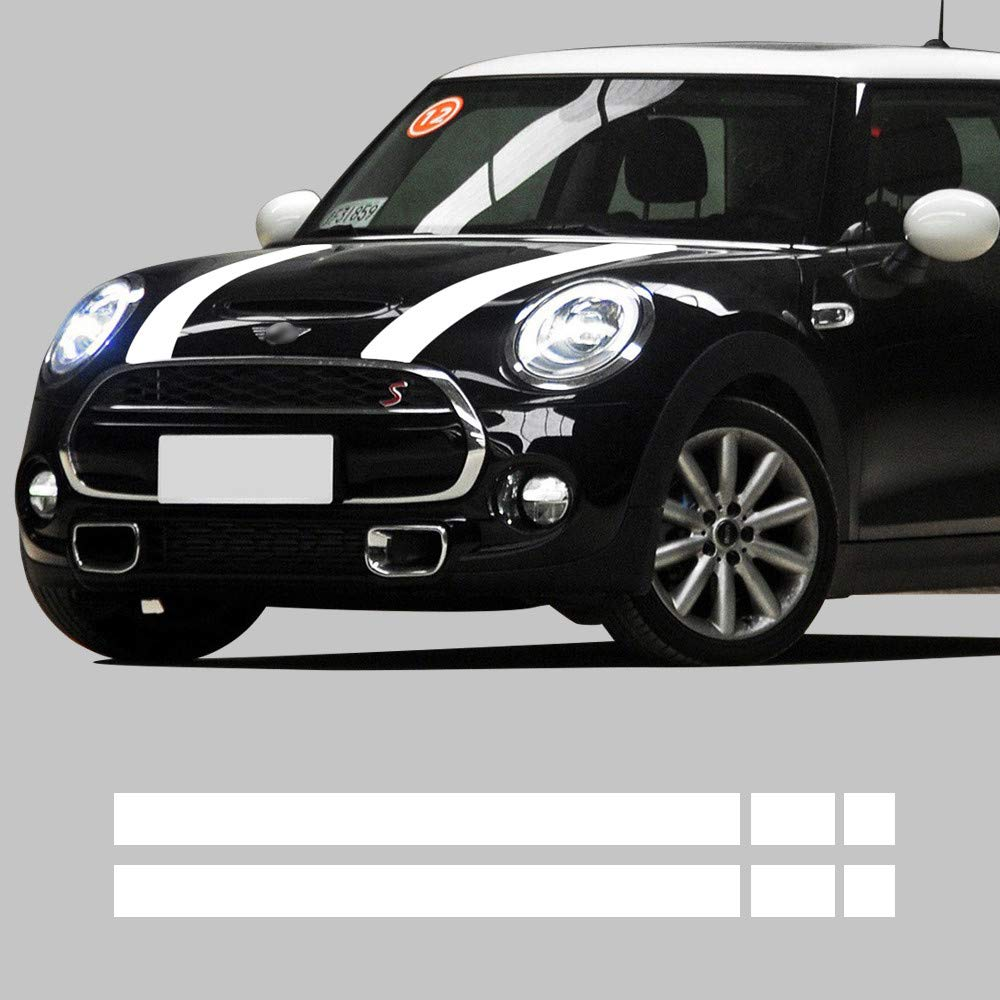 Amazon com car hood trunk engine cover rear vinyl decal bonnet stripe stickers for mini cooper f55 2015 2016 f56 2014 2016 gloss white automotive