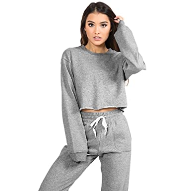 1727ce7b Women Suits Tracksuits, Winter Autumn Sweatshirt Tops+Pant Tracksuit Sport  Sweat Suit Set Lounge