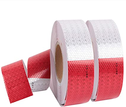 "Cococart DOT-C2 Self-Adhesive Reflective Tape 2/"" × 150 Feet Ultra Bright .. New"
