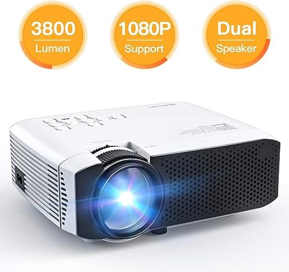 AWLLY Mini Proyector 3800 Lúmenes 45,000 Horas Proyección De Video ...