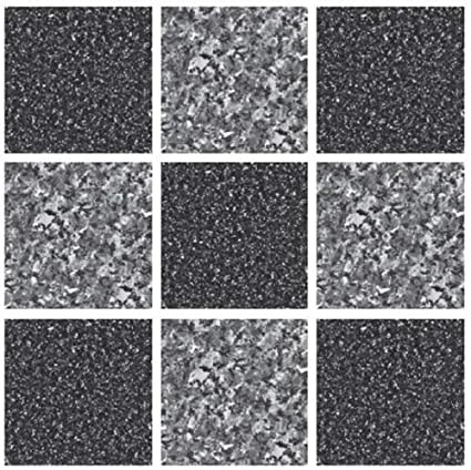 b4de4995636 LPS Pack of 10 Black and grey stone effect Mosaic tile transfers sticker  bathroom kitchen stick on tile peel and stick on wall tile  Amazon.co.uk   Kitchen   ...