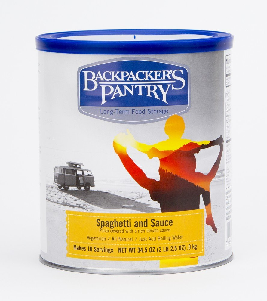 Backpacker's Pantry All Natural, Spaghetti and Sauce, 34.5 Ounces, #10 Can