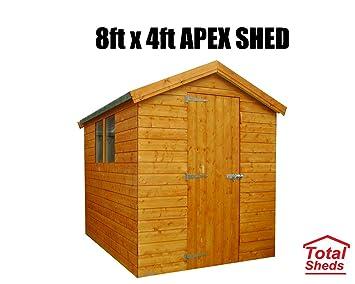 8 ft (2.4 M) X 4 pies (1.2 M) cobertizo cobertizo caseta de jardín caseta de madera total cobertizos: Amazon.es: Jardín