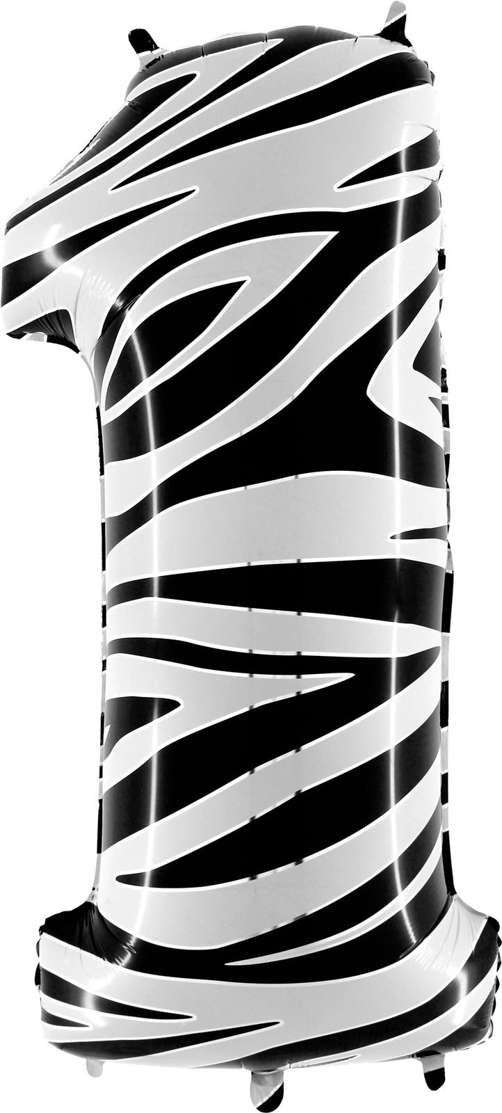 40'' Zebraloons Number 1 Balloon - Zebra Print Balloon - Party Supplies