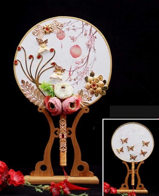 Winpavo Abanico Plegable Flores Artificiales 3D Ventiladores ...