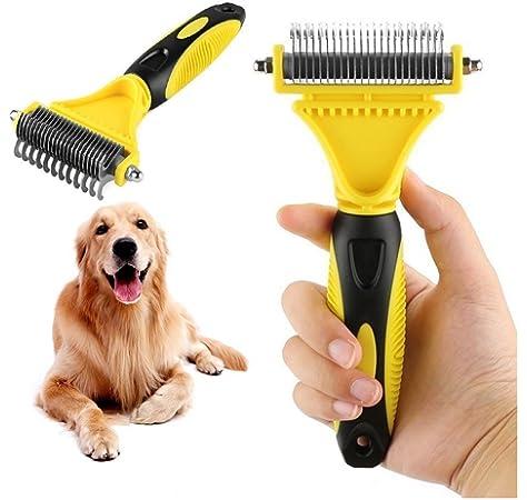 Matt Breaker for Long /& Medium Hair Horse 2 Sided Undercoat Rake /& Long Teeth Dematting Comb for Dog ShedTitan Pet Grooming Tools Value Bundle Deshedder Dematter Easy /& Safe Detangler Cat