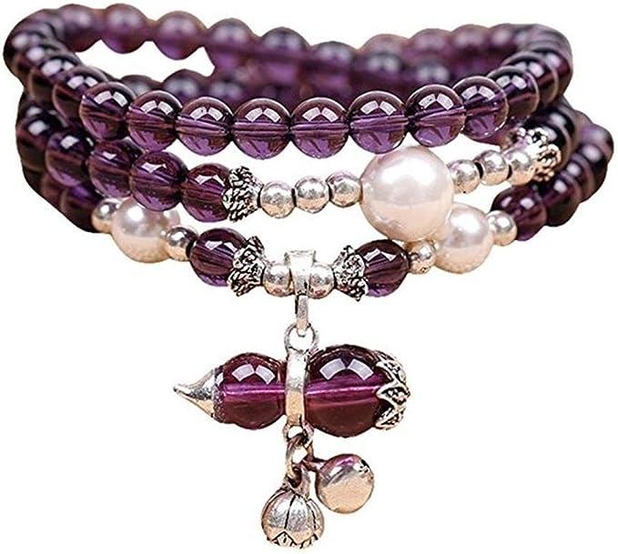 Natural Lavender Amethyst Quartz Crystal Beads Bracelet AAA 9.8-9mm CX#3671