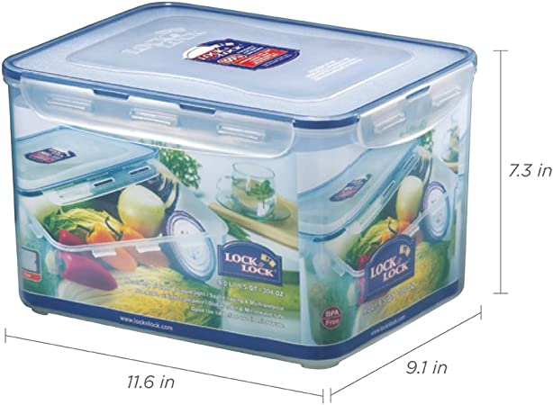 Lock /& Lock HPL889 Plastic Food Container Handle and Tray 12L Kitchen Dining/_NS