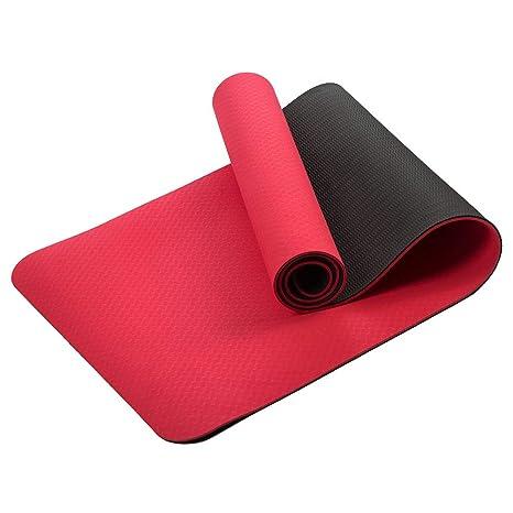 Amazon.com : CCDZ TPE Yoga Mat for Beginner Fitness ...