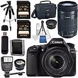 Canon EOS 80D DSLR Camera with 18-135mm IS USM Lens + Canon EF-S 55-250mm Lens + 58mm Wide Angle Lens + 58mm 2x Lens + Canon 100ES EOS Shoulder Bag Bundle