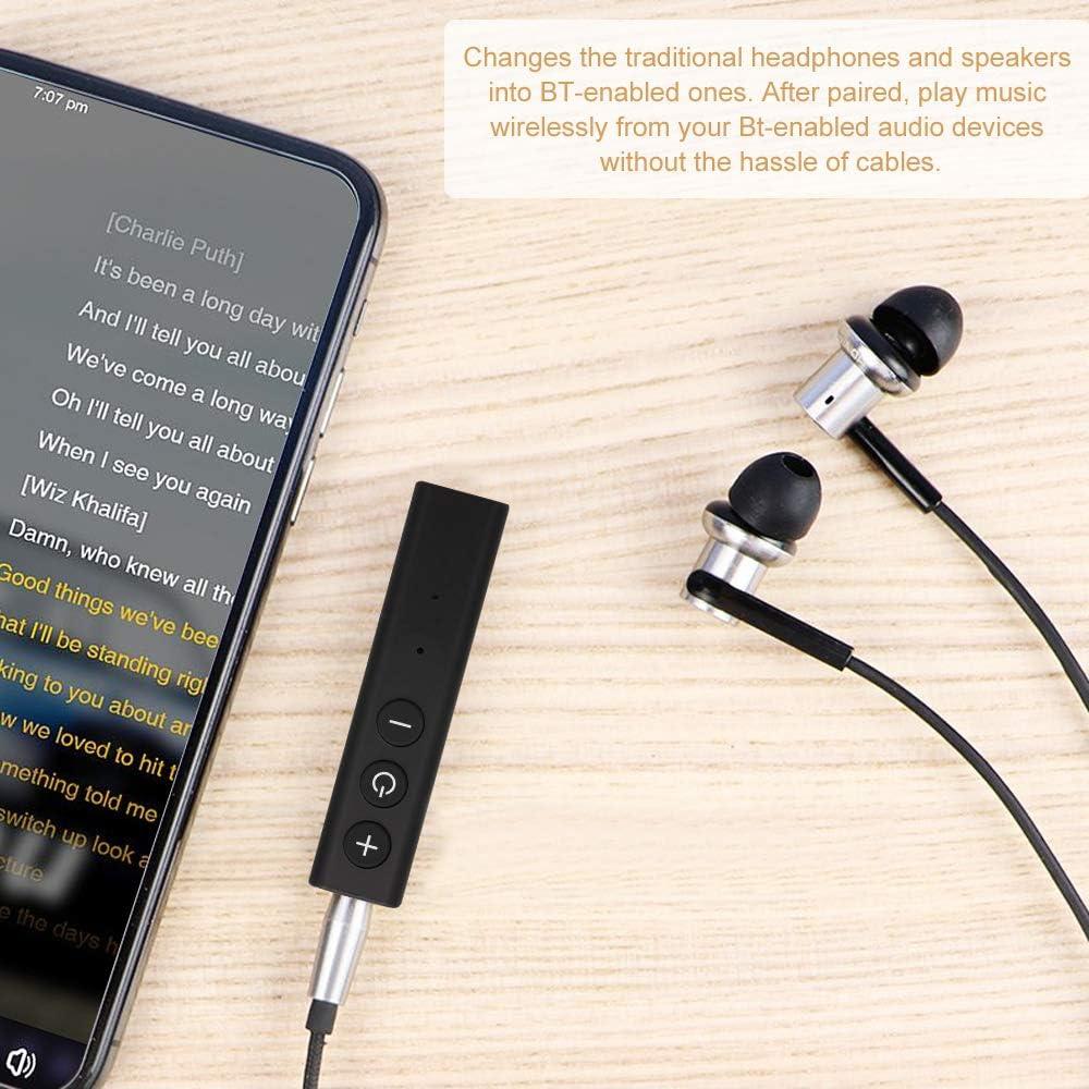 Gamogo ZF-350 Wireless BT 5.0 Ricevitore BT 5.0 Adattatore audio Kit vivavoce per auto con microfono AUX Uscita per altoparlante per cuffie Car Stereo Sistema audio domestico