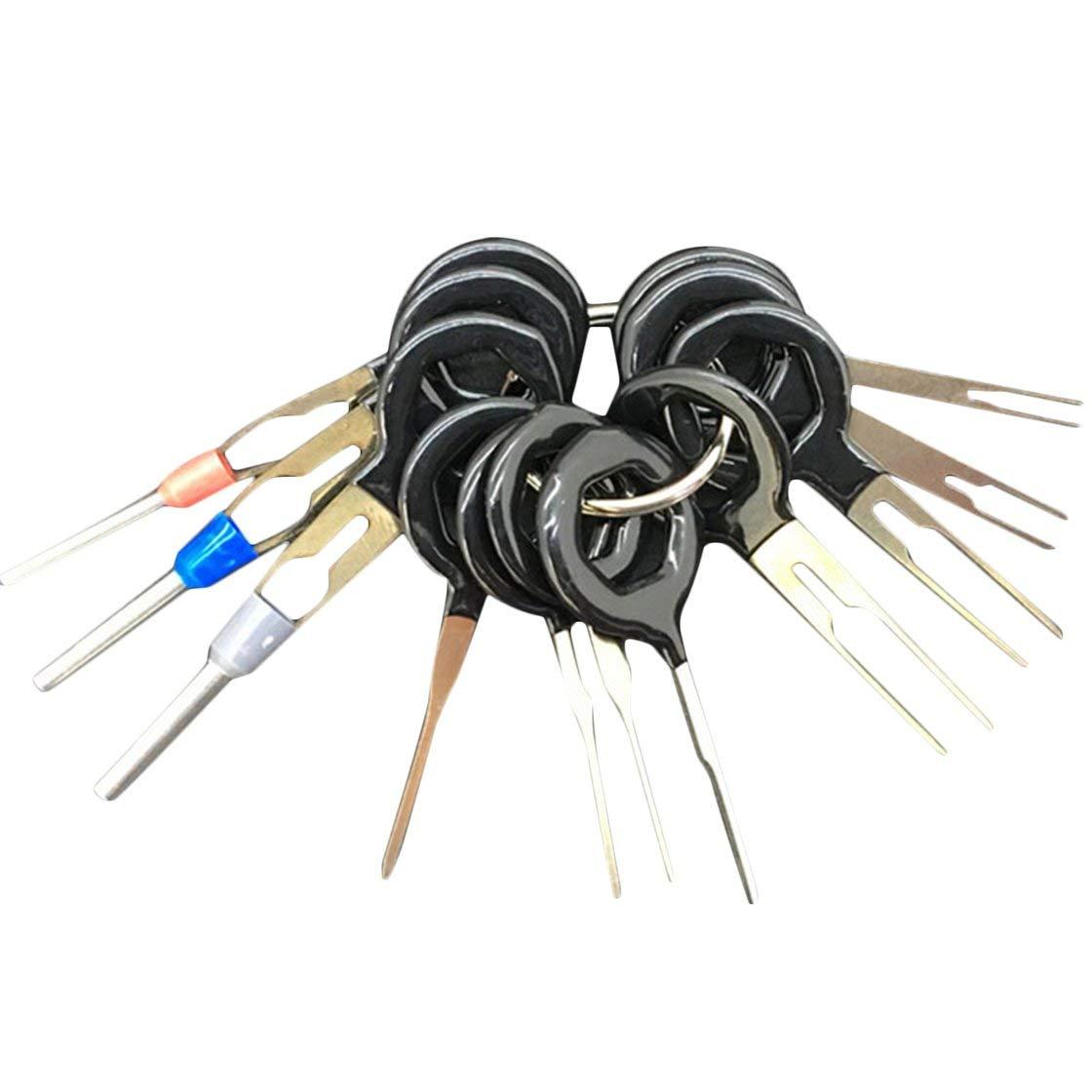 Di alta qualità 11pcs / set Auto Plug Plug terminale di estrazione Pick Back Ago Wire Harness Connector Crimp Pin Repair Tool Set BlackPJenny