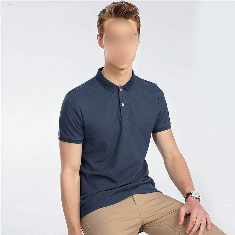 Men Solid Polo Shirt Slim Mens Polo Basic Essential Tops