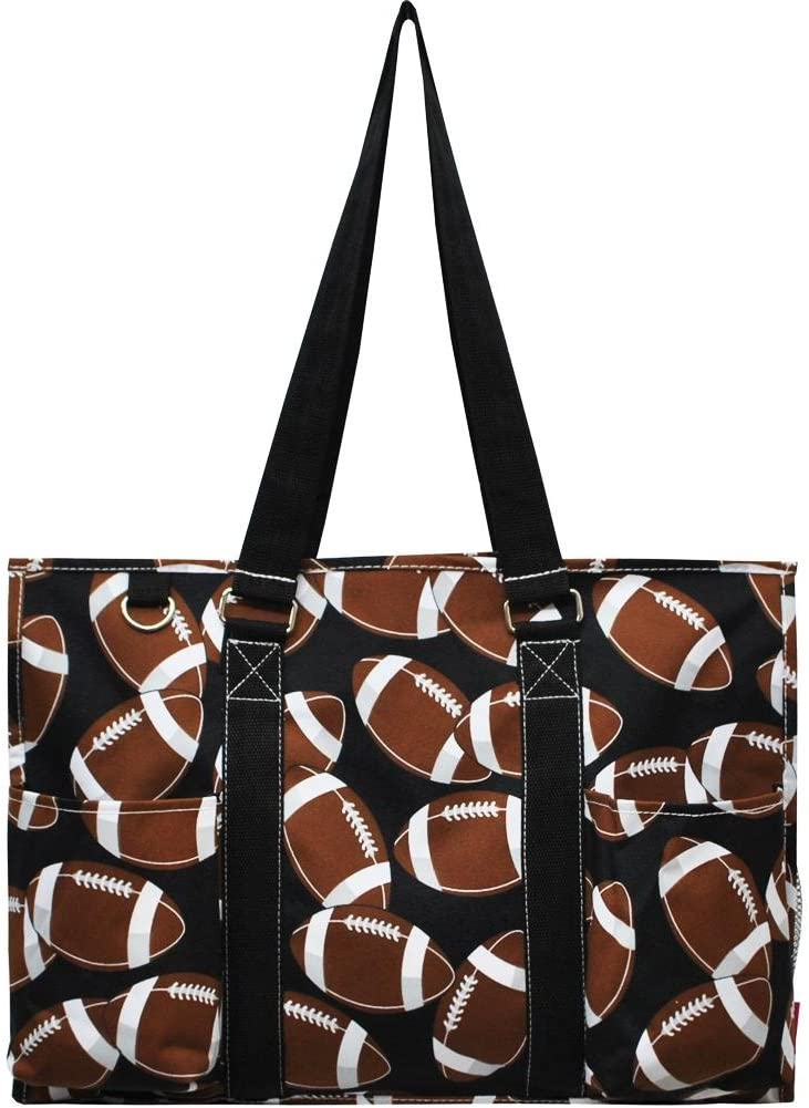 Ocean Themed Prints NGIL Large Travel Caddy Organizer Tote Bag (Football)