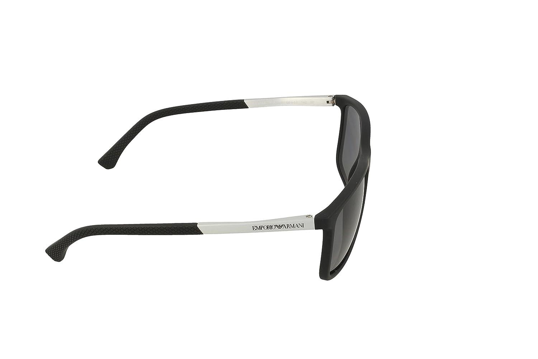 3546f04d184 EMPORIO ARMANI EA 4058 5063 81 3P POLARIZED Rectangle Black full rim  sunglass for men with Grey lens