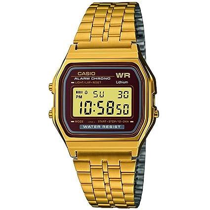 900ca53ad396ad Casio Men's Digital Watch with Stainless Steel Bracelet A159WGEA-5EF ...
