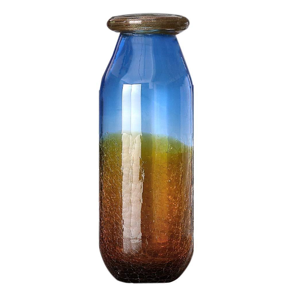 円柱装飾花瓶 クリスタル花瓶AXZHYZ1962012ファッションリビングルームガラス卓上装飾シリンダー花瓶4.3×3.93×12.9インチ 写真円柱装飾花瓶ライフ花瓶フラワーショップブーケボックス B07SCT92GW